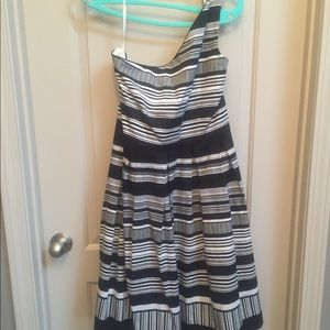 Black and white one strap dress